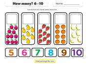 Counting 6 to 10 b