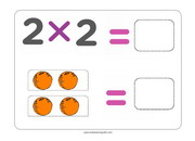 Multiplying by 2 flashcards