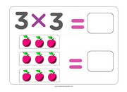 Multiplying by 3 flashcards