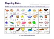Rhyming pairs