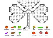 Vegetables-Wordsearch