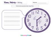time-thirty-writing