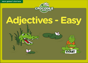 Adjectives Antonyms Opposites ESL Vocabulary Crocodile Board Game