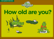 How old are you, Age,ESL Interactive Crocodile Board Game