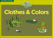 Clothes and Colors ESL Vocabulary ESL Crocodile Board Game