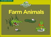 Farm Animals Vocabulary ESL Interactive Crocodile Board Game