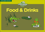 Food, Drinks Vocabulary ESL Vocabulary Crocodile Board Game