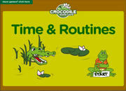 Time and Daily Routines ESL Interactive Board Game