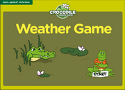Weather Vocabulary ESL Interactive Crocodile Board Game