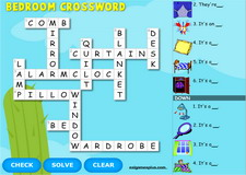 Bedroom Interactive Crossword