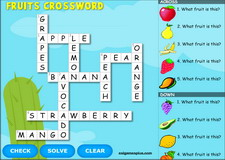 Fruits Interactive Crossword