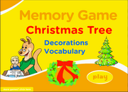 Christmas ESL Vocabulary Memory Game – Christmas Tree Decorations