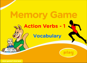 Action Verbs Memory Game for ESL Learning – Very Low Beginners