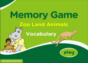 Zoo Animals ESL Vocabulary Memory Game