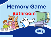ESL Bathroom Vocabulary Memory Game