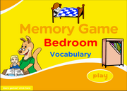 Bedroom ESL Vocabulary Memory Game