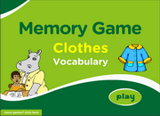 Clothes Vocabulary ESL Memory Game