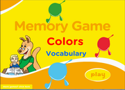 Colors Vocabulary ESL Memory Game