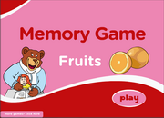 Fruits Vocabulary Memory Game for ESL