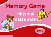 Musical Instruments ESL Vocabulary Memory Game