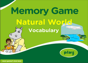 Nature Vocabulary Memory Game for ESL Practice