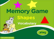 Practice Shapes Vocabulary ESL Memory Game – Elementary