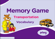Transportation Vocabulary ESL Memory Game