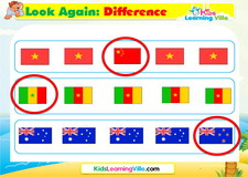 Difference 2 flags