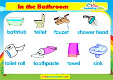 Bathroom vocabulary video