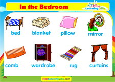 Bedroom vocabulary video
