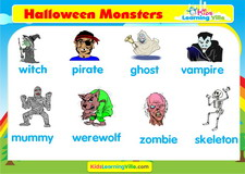 Halloween vocabulary video
