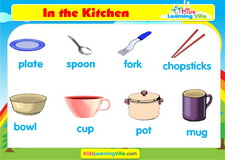 Kitchen vocabulary video
