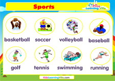 Sports vocabulary video