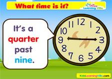 Time quarter past vocabulary video