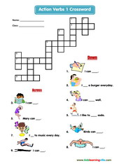 Actions crossword 1
