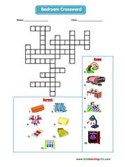 Bedroom crossword