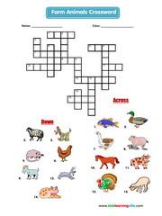 Farm animals crossword