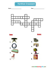 Furniture crossword