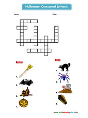 Halloween words crossword