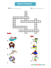 Sports crossword