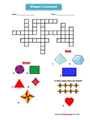 Shapes crossword