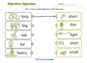 Adjectives opposites match