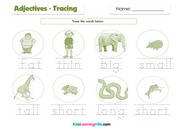 Adjectives tracing