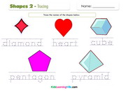 Shapes tracing coloring 2