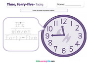 Time forty five tracing
