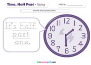 Time half past tracing