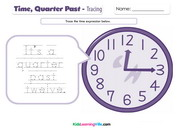 Time quarter past tracing