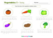 Vegetables 1 tracing