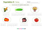 Vegetables 2 tracing