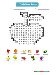 Fruits Crossword
